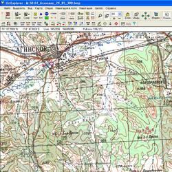 Агинского-Бурятский АО. Карта для Oziexplorer.