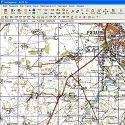 Рязанская обл. Карта для Oziexplorer.