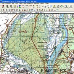 Новосибирская обл. Карта для Oziexplorer.