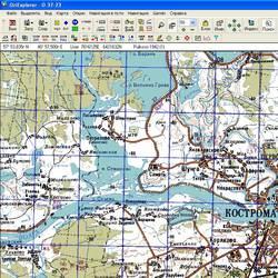 Костромская обл. Карта для Oziexplorer.