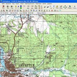 Иркутская обл. Карта для Oziexplorer.