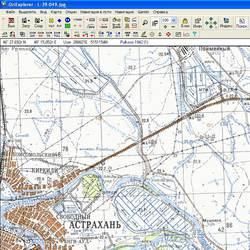 Астраханская обл. Карта для Oziexplorer.