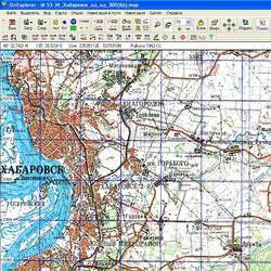 Хабаровский край. Карта для Oziexplorer.