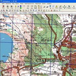 Ставропольский край. Карта для Oziexplorer.