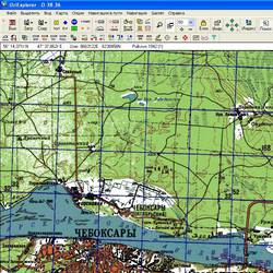 Республика Чувашия. Карта для Oziexplorer.