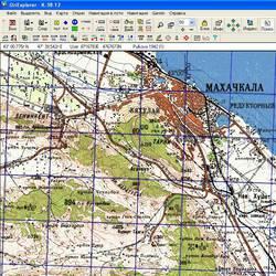 Республика Дагестан. Карта для Oziexplorer.