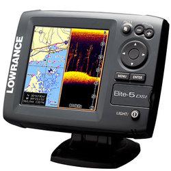 Эхолот+GPS Lowrance Elite-5 DSI (арт.1105/1044)