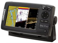 Эхолот-навигатор Lowrance Elite-7 HDI (50\200+455\800kHz)